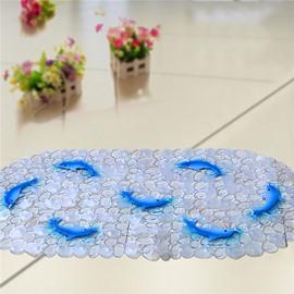 Unique Pretty Blue Dolphin Print Bath Mats