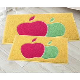 New Style Gorgeous 2 Pieces Double-Apple Design Bath Rug