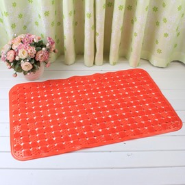Orange Non-Slip Anti-Bacterial Translucent Massage PVC Bath and Shower Mat