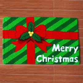 Christmas Gift Pattern Merry Christmas Theme Anti-Slip Acrylic Rug