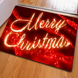 Shining Rectangle Merry Christmas Home Decoration Non Slip Doormat