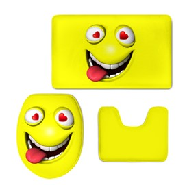 Yellow Grimace 3D Printing 3-Pieces Toilet Seat Cover