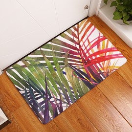 16×24in Green Plants in Sunshine Flannel Water Absorption Soft and Nonslip Bath Rug/Mat