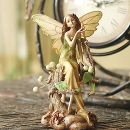 Pretty Forest Angel Desktop Decoration