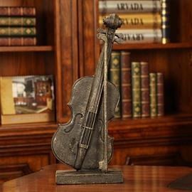Vintage Violin Model Resin Desktop Decoration