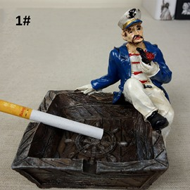 Creative Captain Resin Ashtray Desktop Decoration