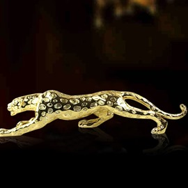 Amazing Resin Leopard Figurine Desktop Decoration Gift Ideas