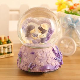 Wonderful Lavender Theme Crystal Ball Desktop Decoration