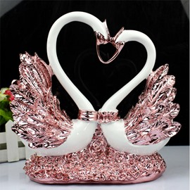 Lovely Romantic Resin Home Decorative Swan Desktop Decoration