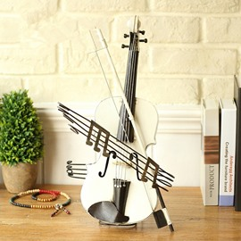 European Style Iron Creative Violin Design Desktop Decoration