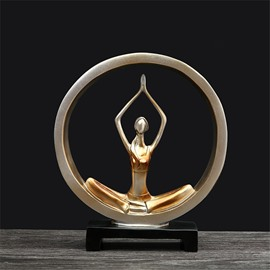Yoga Girl Shape European Style Resin Desktop Decoration