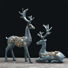 Creative Elk Shape Resin European Style Desktop Decoration