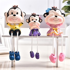 Cartoon Shape Outseam Doll Children Gift Resin Desktop Decoration