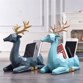 Simple Modern Style Deer Storage Resin Desktop Decoration