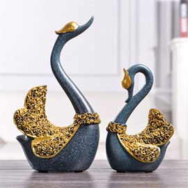 European Style Swan Creative Style Resin Hand Made Desktop Decoration