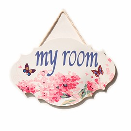Girly Pink Doorplates European-Style Pastoral Furnishings Little Decoration