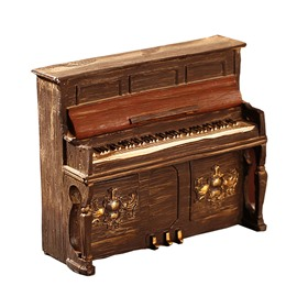 Piano Model Resin Nostalgic Retro Decoration Handicraft Shop Window gifts
