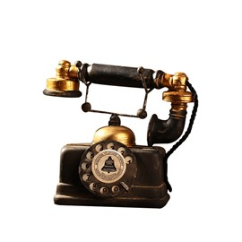 Old Telephone Model Industrial Style Window Display Desk Home Shop Decoration Craft