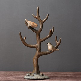 Tree Crafts With Bird Jewelry Rack Holder For Bedroom Dress Shop