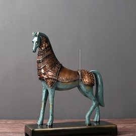 Bronze Horse Historic Old Style Home Pub Office Decoration Gifts