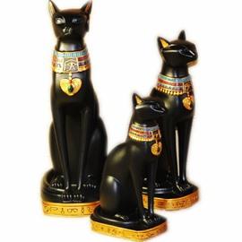 Exotic Egyptian Cat Decorative Handicrafts Good Home Desk Decoration 3 Size