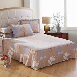 New Style Blue and White Leaves Bed Skirt