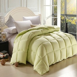 Micro Fiber Light Green Plaid Pattern Skincare Quilt