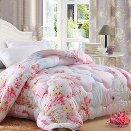 Amazing Beautiful Pink Floral Dots Pattern Ultra Comofortable Quilt