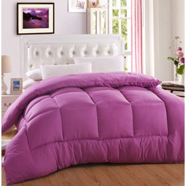 Lofty Purple Polyester Box Stitch Duvet Cover Insert