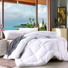 Solid White Polyester Thick Winter Quilt/Comforter