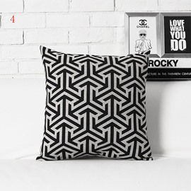 Fancy Stripe Pattern White and Black Pillowcase