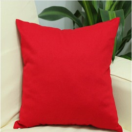 Contracted Style Solid Color Cotton Throw Pillowcase