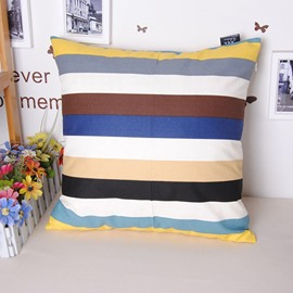 Splendid Trendy Plaid Design Cotton Throw Pillowcase