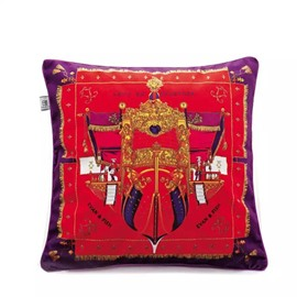 Luxury Steamship Paint Throw Pillow