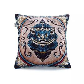 Snake Totem Paint Throw Pillow