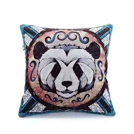 Cute Panda Paint Throw Pillow