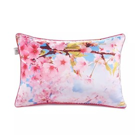 Glorious Peach Blossoms Paint Throw Pillow