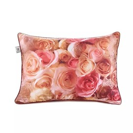 Lovely Full-Blown Roses Paint Throw Pillow