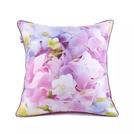 Colorful Flowers Paint Throw Pillow