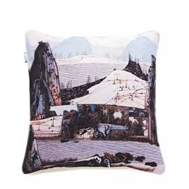 Land of Idyllic Beauty Paint Throw Pillow