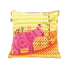 Lovely Cartoon Pigs Paint Throw Pillow