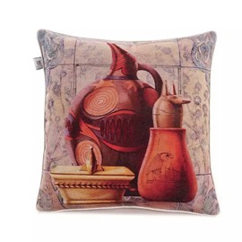 Egypaian Ceramics Paint Throw Pillow