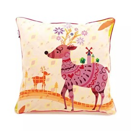 Cartoon David's Deer Paint Throw Pillow Case