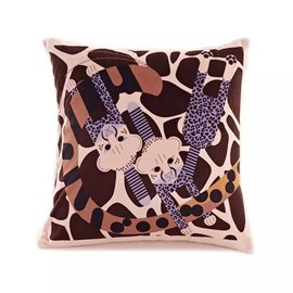 Cartoon Leopards Paint Throw Pillow Case