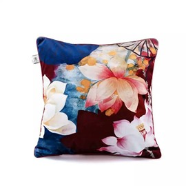Beautiful Colored Water Lilies Paint Throw Pillow Case
