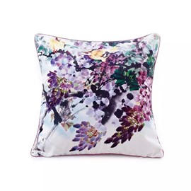 Fashion Colored Flowers Paint Throw Pillow Case