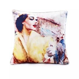 Charming Gorgeous Lady Paint Throw Pillow Case
