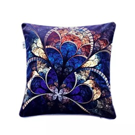 European Style Royalble Background and Golden Figure Paint Throw Pillow Case