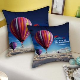 Beddinginn Signature Fire Balloon Patterned Tencel Throw Pillowcase