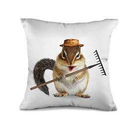 Likeable Mouse Farmer 3D Print Throw Pillow Case